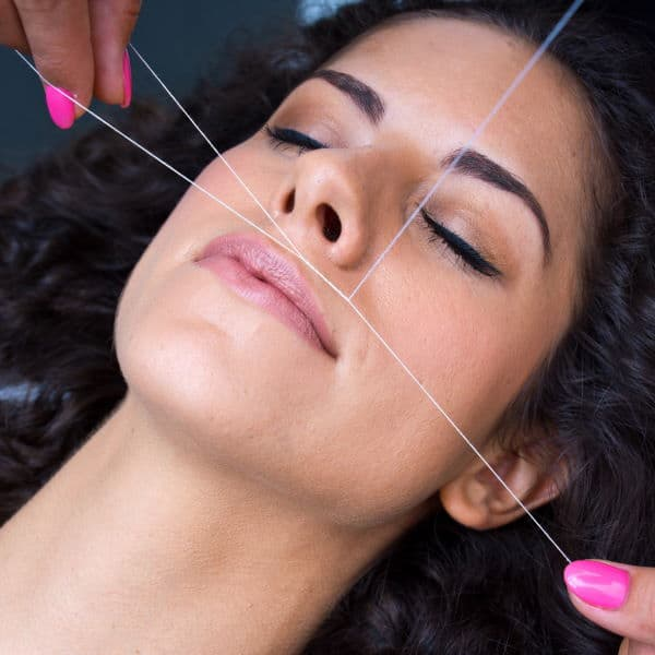threading service at aroma spa and brows