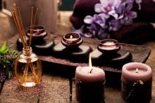 Candles, body treatment oils